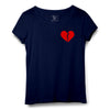Broken Heart Printed Women Round Neck T-shirt - POPCON