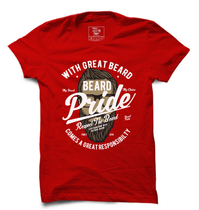 Beard Pride Printed Half Sleeve T-shirt