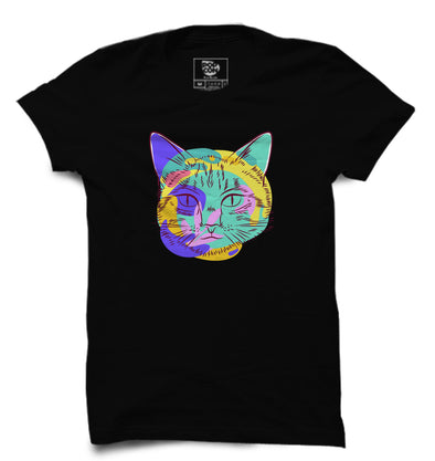Cat Face Printed Half Sleeve T-shirt - POPCON