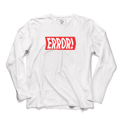Error Printed Full Sleeve T-shirt - POPCON