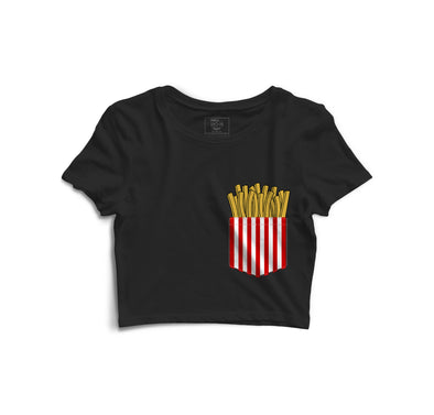 Fries Printed Crop Top