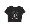 Fight Like A Girl Printed Crop Top