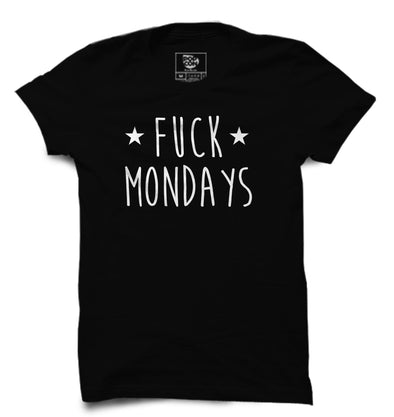 Fuck Mondays Printed Half Sleeve T-shirt