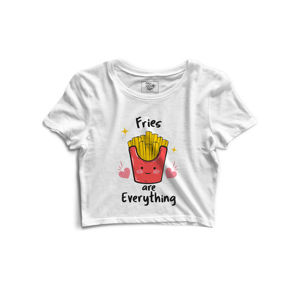 Fries Are Everything Printed Crop Top