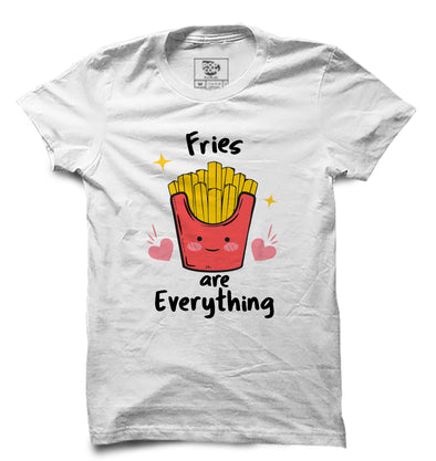 Fries Are Everything Printed Half Sleeve T-shirt
