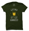 Let's Get Hammered Printed Half Sleeve T-shirt