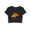 Get Me A Pizza Printed Crop Top