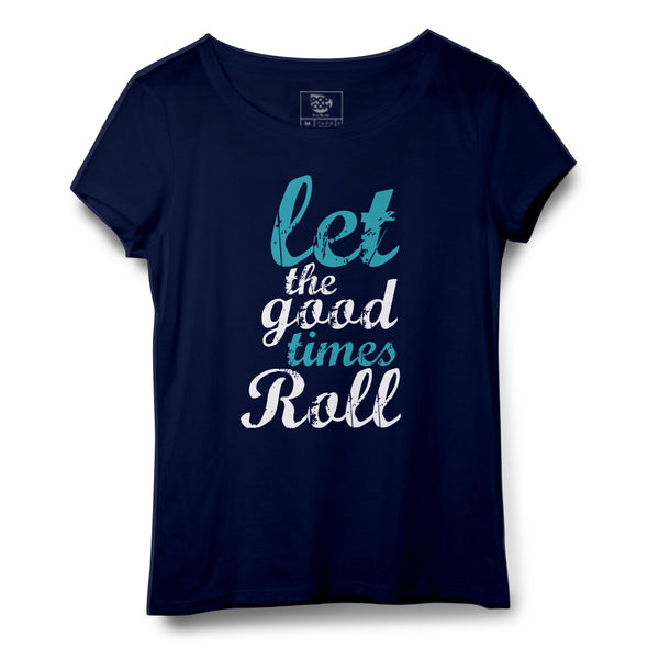 Good Times Printed Women Round Neck T-shirt