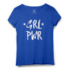 Girl Power Printed Women Round Neck T-shirt