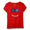 Be Happy Printed Women Round Neck T-shirt - POPCON
