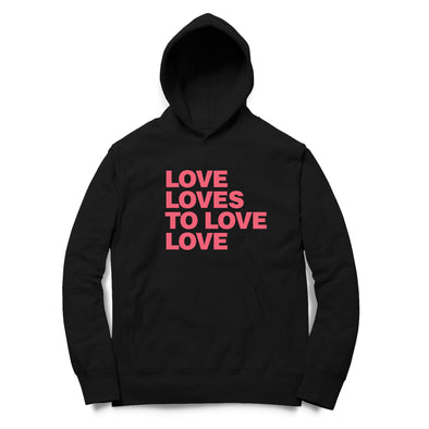 Love Loves Printed Hoodie