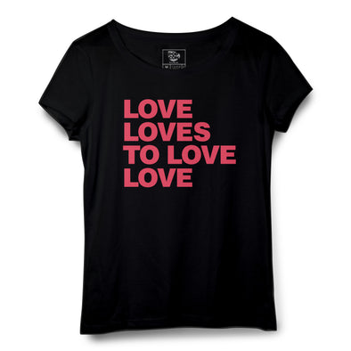 Love Loves Printed Women Round Neck T-shirt