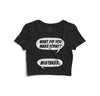 Made Mistakes Printed Crop Top