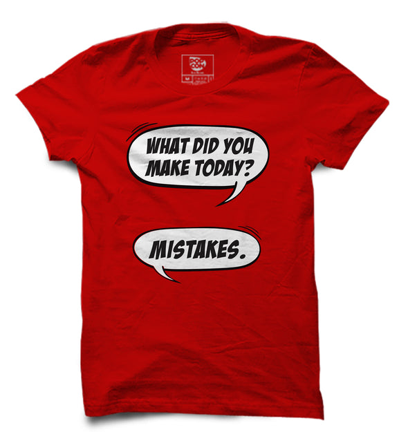 Made Mistakes Printed Half Sleeve T-shirt