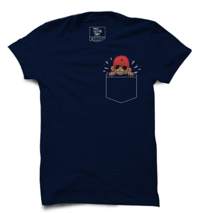 Monkey Pocket Printed Half Sleeve T-shirt