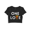 One Love Printed Crop Top