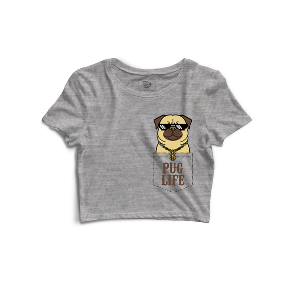 Pug Life Printed Crop Top