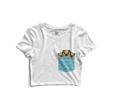 Puppies Printed Crop Top