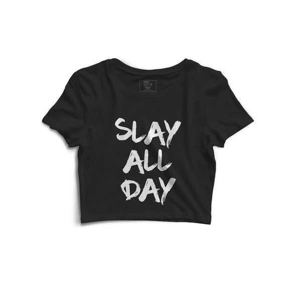 Slay All Day Printed Crop Top