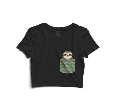 Sloth Printed Crop Top
