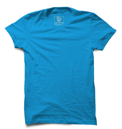 Turquoise Blue Half Sleeve T-shirt