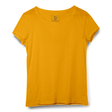 Mustard Women Round Neck T-shirt