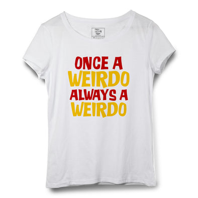 Weirdo Printed Women Round Neck T-shirt