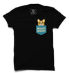 Woof Woof Pocket Printed Half Sleeve T-shirt