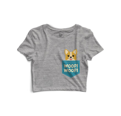 Woof Woof Printed Crop Top