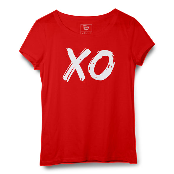 XO Printed Women Round Neck T-shirt