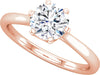 Solitaire (6-prong w/ Hidden Detail) Engagement Ring
