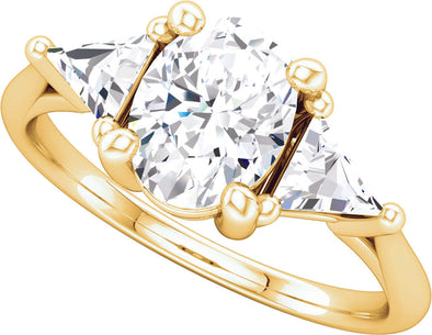Three-Stone (Triangle-Shape Accent) Ring