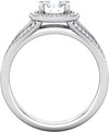 Halo (4-prong) Split-Shank Diamond Band Ring