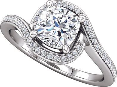 Halo (4-Prong) Bypass Diamond Band Ring