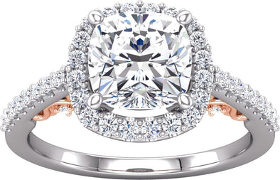 Halo (4-prong w/ Accented Gallery) Diamond Band Ring
