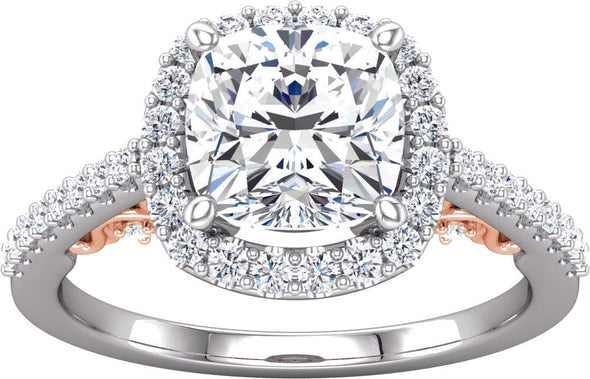 Halo (4-prong w/ Accented Gallery) Engagement Ring