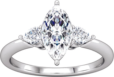 Three-Stone (Pear-Shape Accent) Ring
