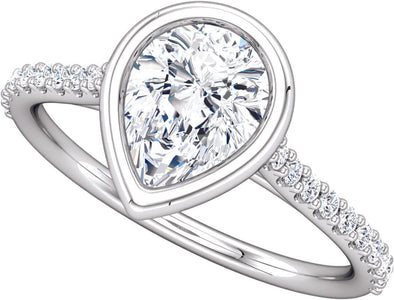 Diamond-Accented (Bezel Set) Ring