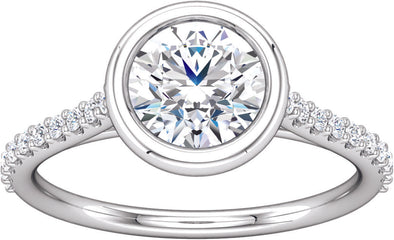 Diamond-Accented (Bezel Set) Engagement Ring