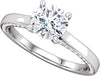 Solitaire (4-Prong) Side Shank Diamond Accented Ring