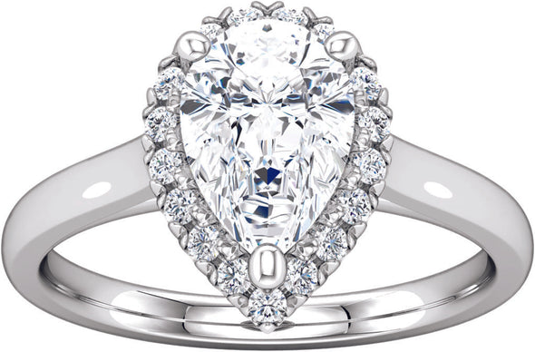 Halo (4-prong) Engagement Ring V