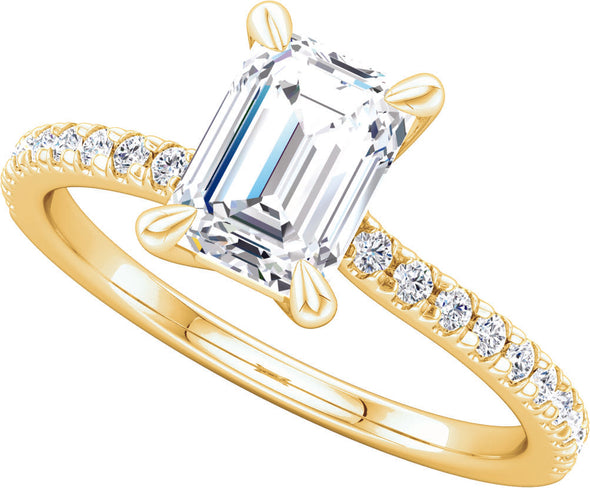 Diamond Accented (4-Prong) Twist Setting Ring