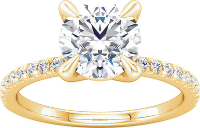 Diamond-Accented (4-Prong) Engagement Ring