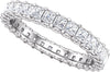 Classic Eternity Band (Prong-Set) with Criss-Cross Detail