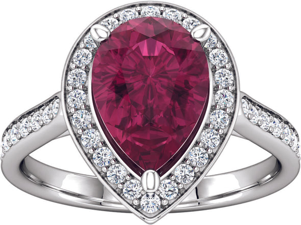 Halo (3 Prong w/ Hidden Diamond) Engagement Ring