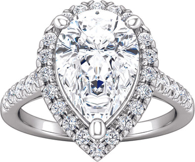 Halo (3-prong w/ Diamond Gallery) Engagement Ring