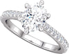 Diamond-Accented (6-prong) Engagement Ring