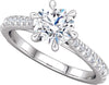 Diamond-Accented (6-prong) Ring
