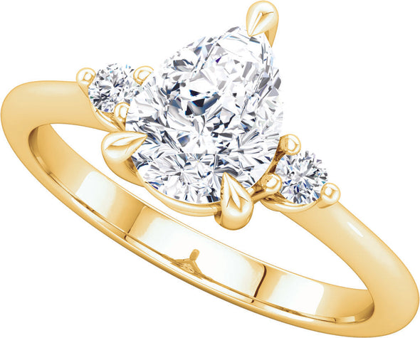 Three-Stone (Round-Shape Accent) Ring