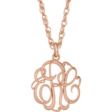 3-Letter Script Monogram Necklace - Small